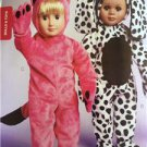 "Kwik Sew Sewing Patterns 3966 18"" Doll Costumes Teddy Puppy Kitten New"