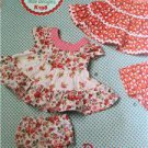 ** Ellie Mae Designs Sewing Pattern K0198 Baby Infant Panties Dress Size S-XXL