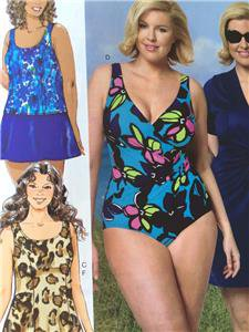 Butterick Sewing Pattern 5795 Misses Swimsuit Cover Up Skirt Size 26W-32W New