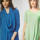 Kwik Sew Sewing Pattern 3954 Misses Ladies Knit Tops Scarf Size XS-XL New