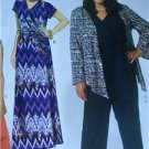 McCalls Sewing Pattern 7135 Misses Dress Jumpsuit Shrug Belt Size 18W-24W New