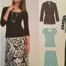 New Look Sewing Pattern 6735 Misses Knit Cardigan Pants Top Skirt Size 10-22 New