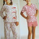 Kwik Sew Sewing Patterns 3831 Girls Childs Sleepy Time Pajamas Size XS-XL New