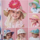 "Simplicity Sewing Pattern 1682 Girls Child Hat XS 18""- S 19""- M 20""- L 21"" New"