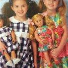 Ellie Mae Designs Sewing Pattern K0193 Girls Dolls Matching Dress Size XXS-L New