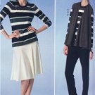 McCalls Sewing Pattern 7059 Misses Vest Jacket Tops Skirt Pants Size 6-14 New