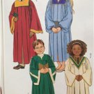 Butterick Sewing Pattern 4542 Girls Boys Childs Robe Collar Size 7-12 New