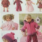 Burda Sewing Pattern 7753 30-35 40-45 CM Doll Clothes Dress Jacket Vest New