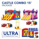 Commercial 2 bounces plus  FREE Ultra Commercial Combo with this Package!•Magic Castle Combo 15