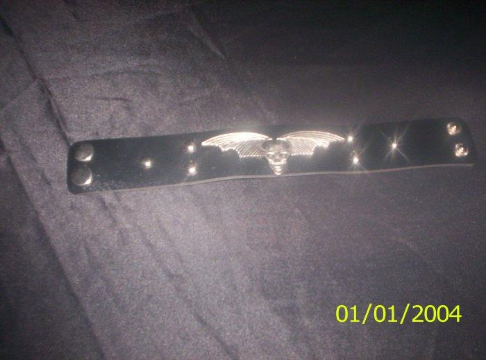 winged skull bracelet