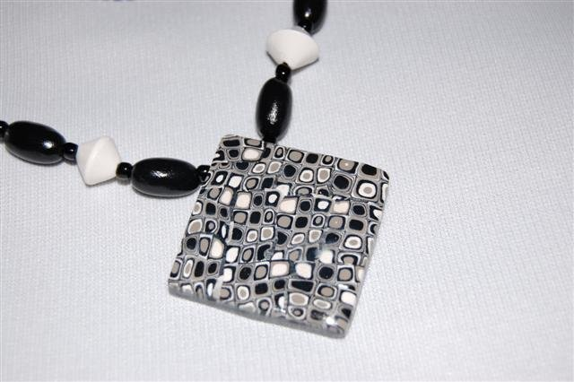 Handmade Polymer Clay Necklace with matching Earrings - set 13