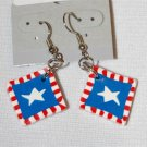 Handmade Polymer Clay American Flag Earrings - set 9