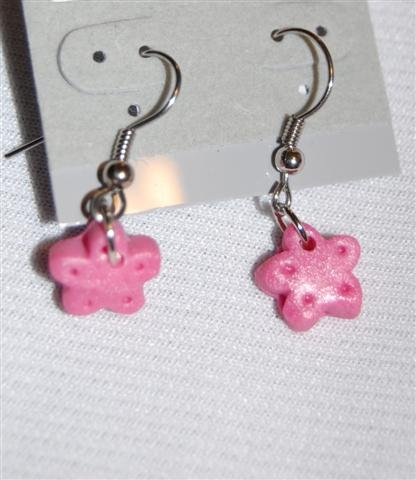 Handmade Polymer Clay Pink Earrings - set 3