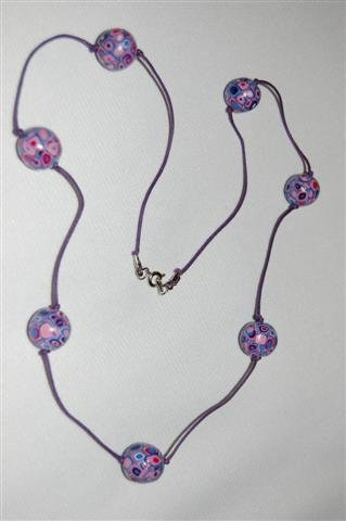 Handmade Polymer Clay Necklace with matching Earrings - set 16
