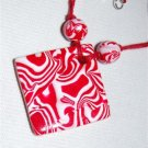 Handmade Polymer Clay Necklace with matching Earrings - set 19
