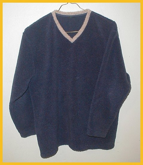 Men's Fleece Pullover , size Medium, Blue