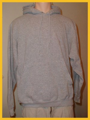 Men's Gray Sweatshirt Hoodie, Size L by Champs