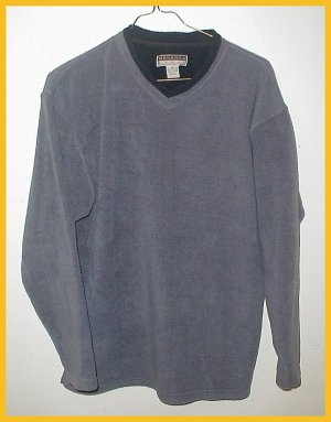 Men's Fleece  Pullover, Gray/Blue size M, Generra Sport