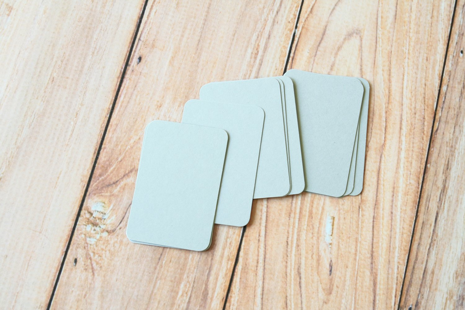 Silver Grey blank business cards