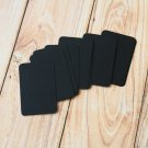 Black blank business cards