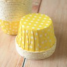Yellow Polka Dots paper Candy Cups cupcake liner