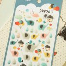 Pawoo Elephant cartoon puffy stickers