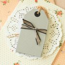 Grey East of India Large Luggage gift tags