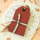 Red East of India Large Luggage gift tags