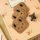 Rabbit Face Kraft Brown square tags
