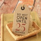 Do No Open East of India Large Kraft Christmas gift tags