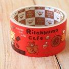 Rilakkuma Cafe cute cartoon large deco paper tape