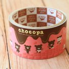 Chocopa Bear cute cartoon large deco paper tape