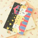 Moonlight Choo Choo Cat cartoon postcard