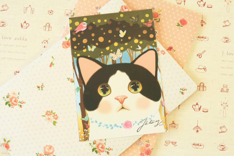 Jewelry Choo Choo Cat cartoon postcard