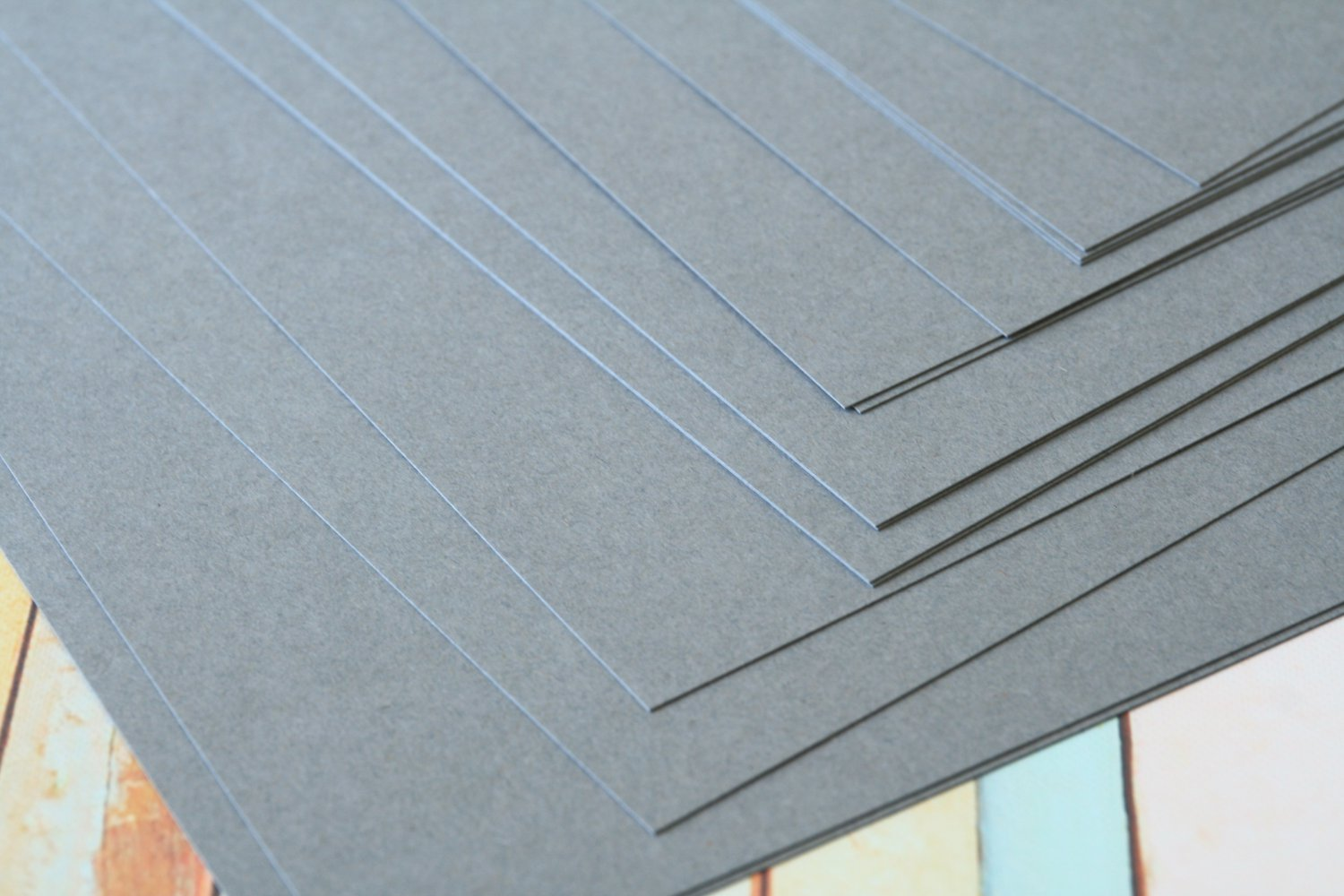 Dark Grey cardstock 260gsm 95lbs cover A4 size