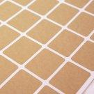 1 1/4 x 1 5/8 inch Kraft Paper sticker label sheets