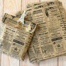 Newsprint vintage style Kraft Brown paper bags