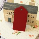 Burgundy Red medium scallop swing tags
