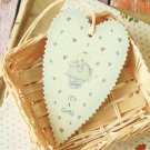 Its a Girl East of India Large Heart gift tags