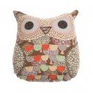 Priscilla Floral Owl Pillow