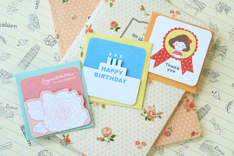 Set 02 Cute Cartoon blank mini greeting cards