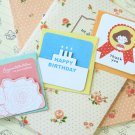 Set 02 Cute Cartoon blank mini greeting cards