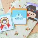 Set 03 Cute Cartoon blank mini greeting cards