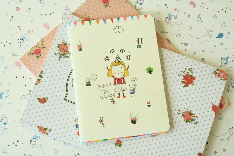 Circus Make You Happy cartoon notebook