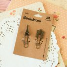 05 Eiffel and Arc de Triomphe Bookmark Vintage Style paper clips