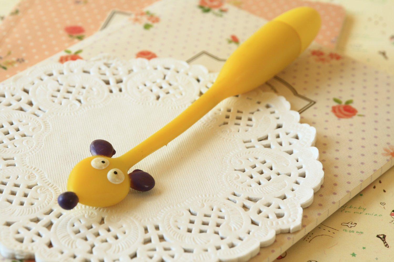 Yellow Mouse Flexi Pen cartoon bendable ballpen