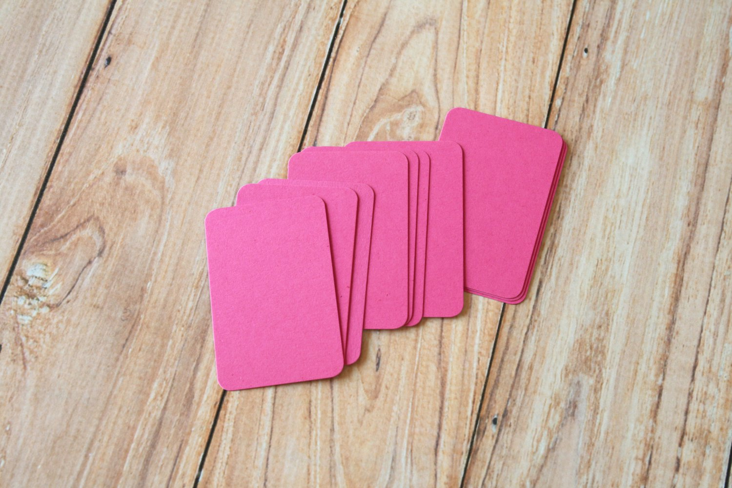 Magenta Pink blank business cards
