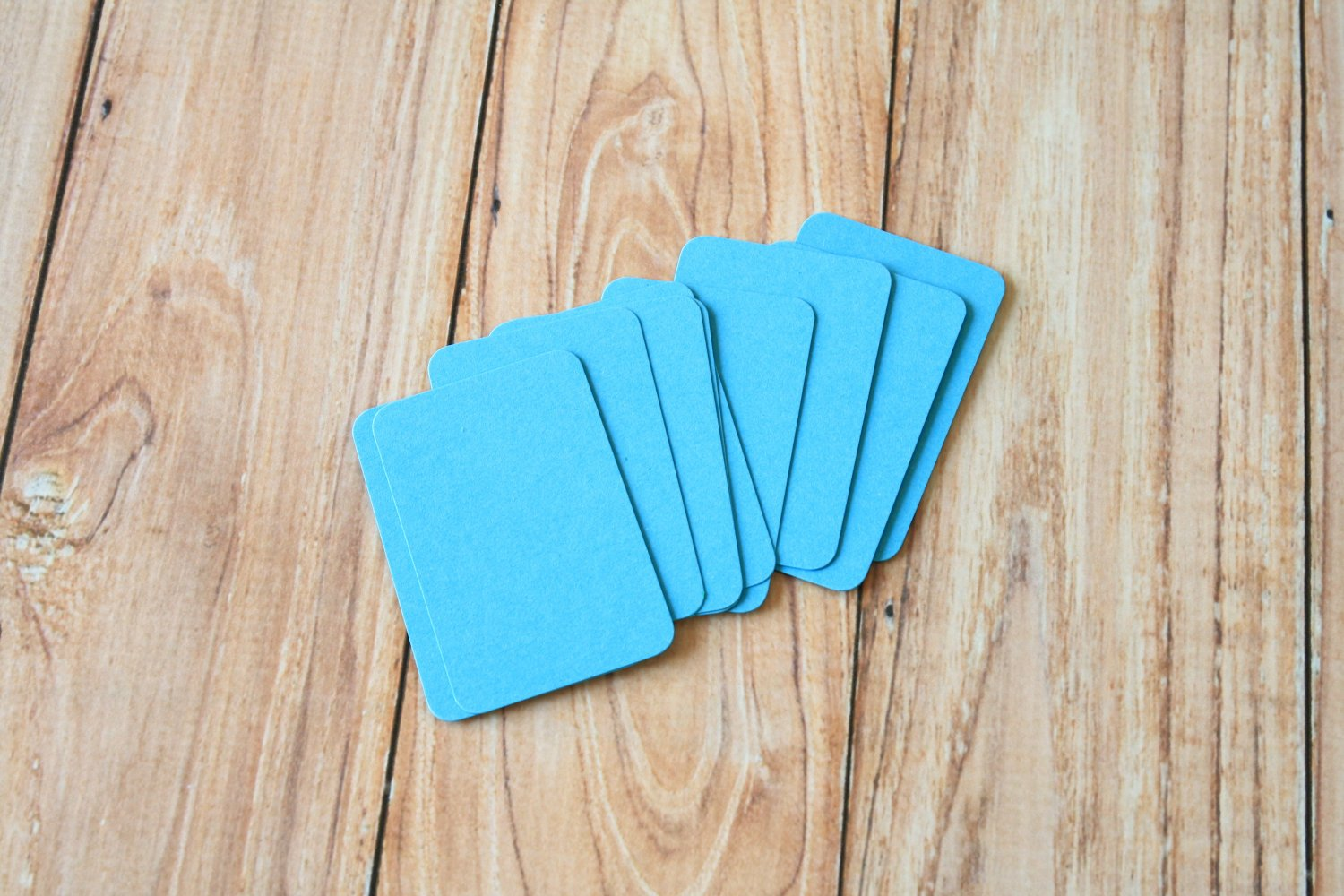 Aquamarine Blue blank business cards