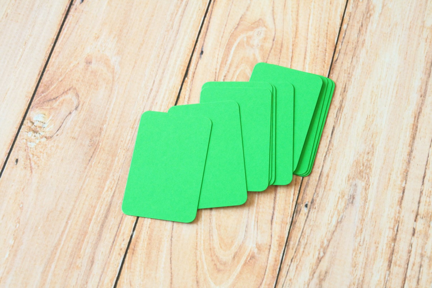 Spring Green blank business cards