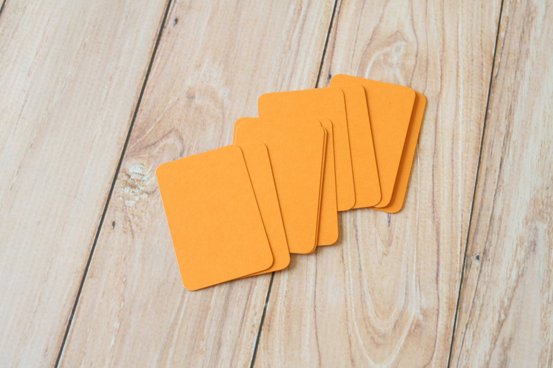 Pumpkin Orange blank business cards
